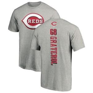 Juan Graterol Cincinnati Reds Men's Backer T-Shirt - Ash