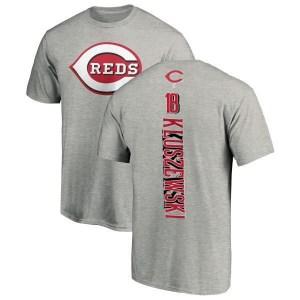 Ted Kluszewski Cincinnati Reds Men's Backer T-Shirt - Ash