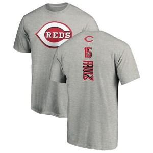 Chico Ruiz Cincinnati Reds Men's Backer T-Shirt - Ash