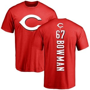 Matt Bowman Cincinnati Reds Youth Red Backer T-Shirt -