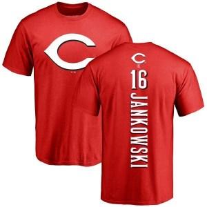 Travis Jankowski Cincinnati Reds Men's Red Backer T-Shirt -