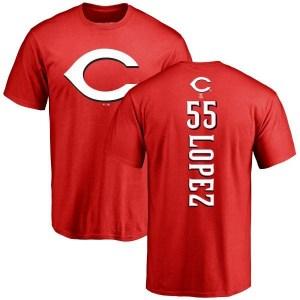 Alejo Lopez Cincinnati Reds Youth Red Backer T-Shirt -
