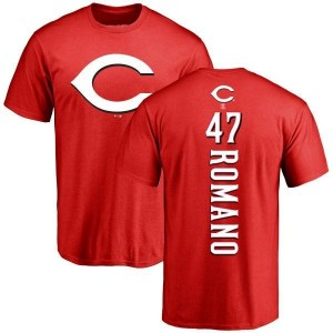 Sal Romano Cincinnati Reds Men's Red Backer T-Shirt -