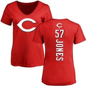 Nate Jones Cincinnati Reds Women's Red Backer Slim Fit T-Shirt -