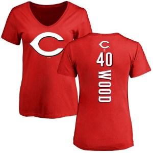 Alex Wood Cincinnati Reds Women's Red Backer Slim Fit T-Shirt -