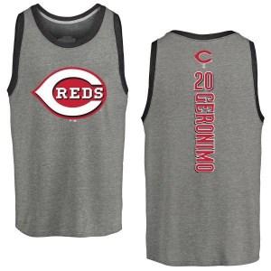 Cesar Geronimo Cincinnati Reds Men's Backer Tri-Blend Tank Top - Ash