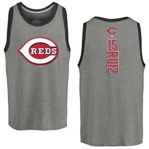 Chico Ruiz Cincinnati Reds Men's Backer Tri-Blend Tank Top - Ash