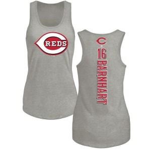Tucker Barnhart Cincinnati Reds Women's Backer Tri-Blend Tank Top - Ash