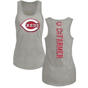 Kyle Farmer Cincinnati Reds Women's Backer Tri-Blend Tank Top - Ash