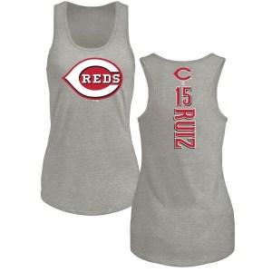 Chico Ruiz Cincinnati Reds Women's Backer Tri-Blend Tank Top - Ash