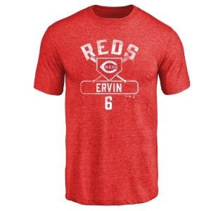 Phillip Ervin Cincinnati Reds Men's Red Base Runner Tri-Blend T-Shirt -