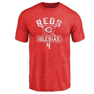 Jose Iglesias Cincinnati Reds Youth Red Base Runner Tri-Blend T-Shirt -