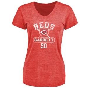 Amir Garrett Cincinnati Reds Women's Red Base Runner Tri-Blend T-Shirt -
