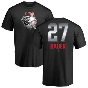 Trevor Bauer Cincinnati Reds Men's Black Midnight Mascot T-Shirt -