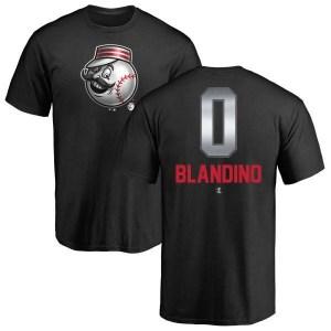 Alex Blandino Cincinnati Reds Men's Black Midnight Mascot T-Shirt -