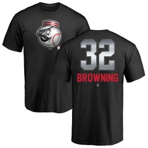 Tom Browning Cincinnati Reds Men's Black Midnight Mascot T-Shirt -