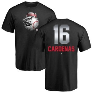 Leo Cardenas Cincinnati Reds Men's Black Midnight Mascot T-Shirt -