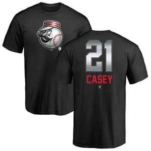 Sean Casey Cincinnati Reds Men's Black Midnight Mascot T-Shirt -