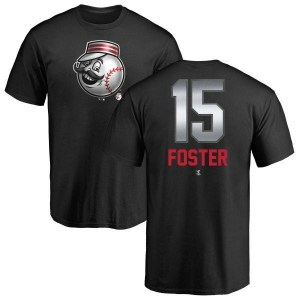George Foster Cincinnati Reds Men's Black Midnight Mascot T-Shirt -