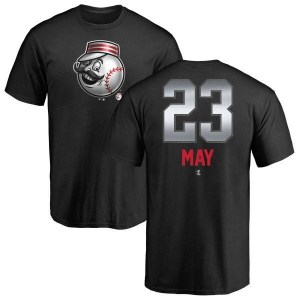 Lee May Cincinnati Reds Men's Black Midnight Mascot T-Shirt -