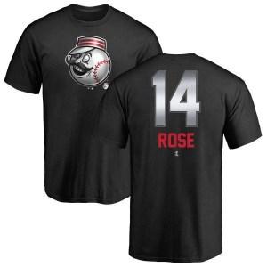 Pete Rose Cincinnati Reds Men's Black Midnight Mascot T-Shirt -