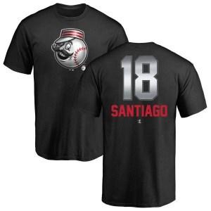 Benito Santiago Cincinnati Reds Men's Black Midnight Mascot T-Shirt -