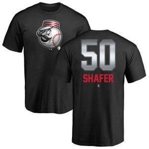 Justin Shafer Cincinnati Reds Men's Black Midnight Mascot T-Shirt -