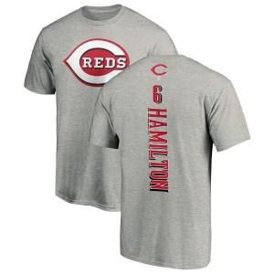 Billy Hamilton Cincinnati Reds Men's Backer T-Shirt - Ash