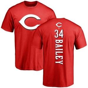 Homer Bailey Cincinnati Reds Men's Red Backer T-Shirt -