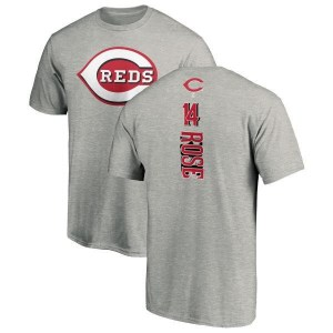 Pete Rose Cincinnati Reds Men's Backer T-Shirt - Ash