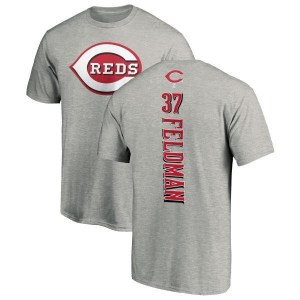 Scott Feldman Cincinnati Reds Men's Backer T-Shirt - Ash
