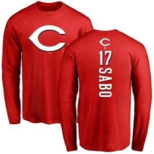 Chris Sabo Cincinnati Reds Men's Red Backer Long Sleeve T-Shirt -