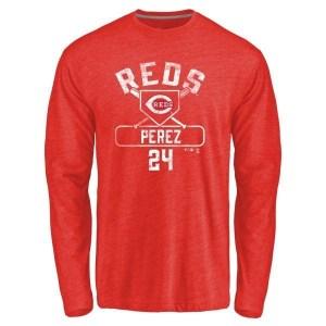 Tony Perez Cincinnati Reds Men's Red Branded Base Runner Tri-Blend Long Sleeve T-Shirt -