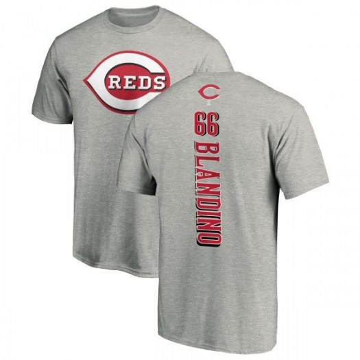 Alex Blandino Cincinnati Reds Men's Backer T-Shirt - Ash