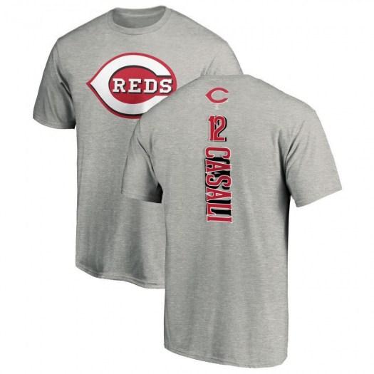 Curt Casali Cincinnati Reds Men's Backer T-Shirt - Ash