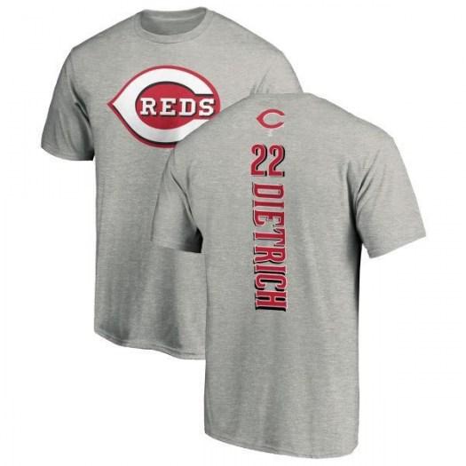 Derek Dietrich Cincinnati Reds Men's Backer T-Shirt - Ash