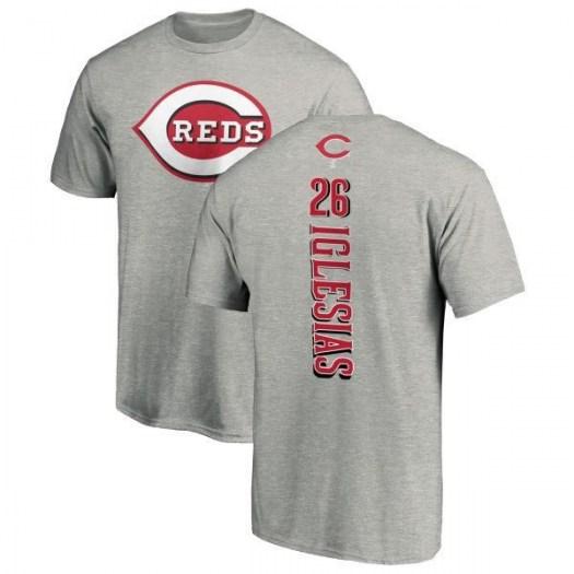 Raisel Iglesias Cincinnati Reds Men's Backer T-Shirt - Ash
