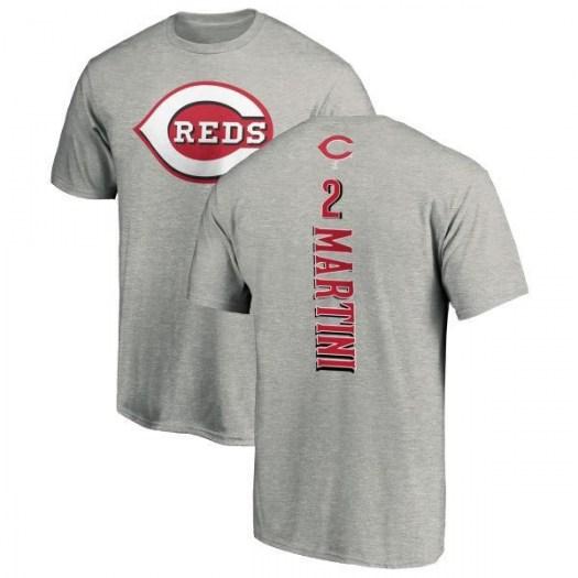 Nick Martini Cincinnati Reds Men's Backer T-Shirt - Ash