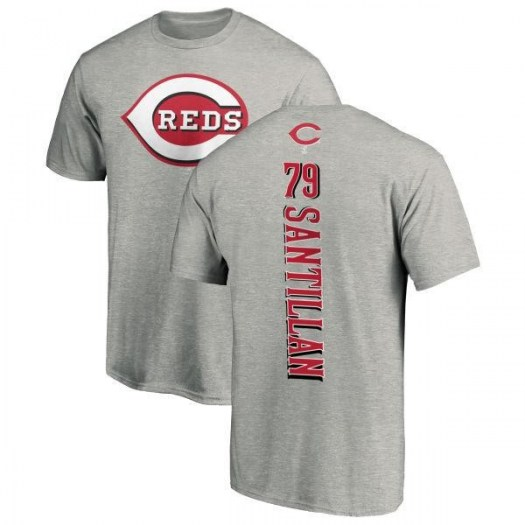 Tony Santillan Cincinnati Reds Men's Backer T-Shirt - Ash