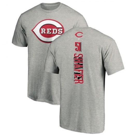 Justin Shafer Cincinnati Reds Men's Backer T-Shirt - Ash
