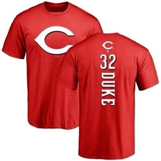 Zach Duke Cincinnati Reds Men's Red Backer T-Shirt -