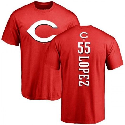 Alejo Lopez Cincinnati Reds Men's Red Backer T-Shirt -