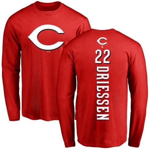 Dan Driessen Cincinnati Reds Men's Red Backer Long Sleeve T-Shirt -