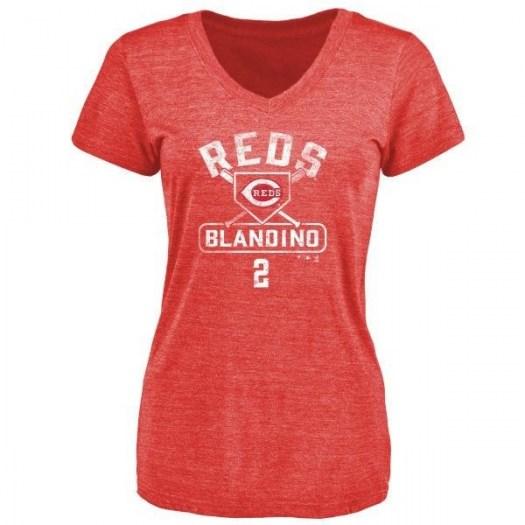 Alex Blandino Cincinnati Reds Women's Red Branded Base Runner Tri-Blend T-Shirt -