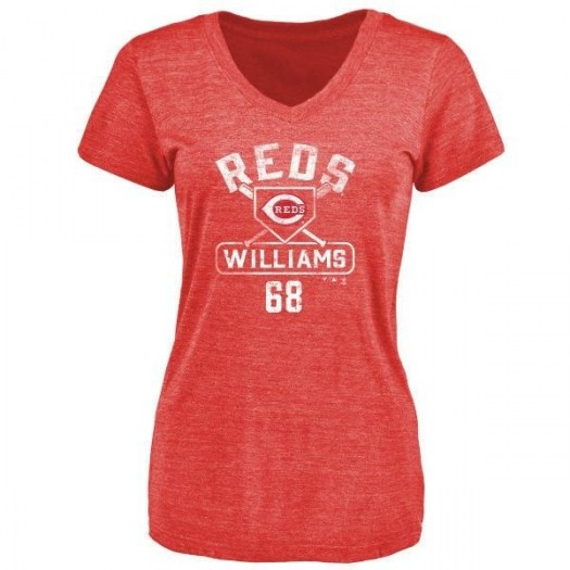 Mason Williams Cincinnati Reds Women's Red Base Runner Tri-Blend T-Shirt -