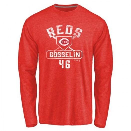 Phil Gosselin Cincinnati Reds Youth Red Base Runner Tri-Blend Long Sleeve T-Shirt -