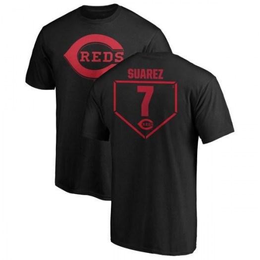Eugenio Suarez Cincinnati Reds Men's Black RBI T-Shirt -