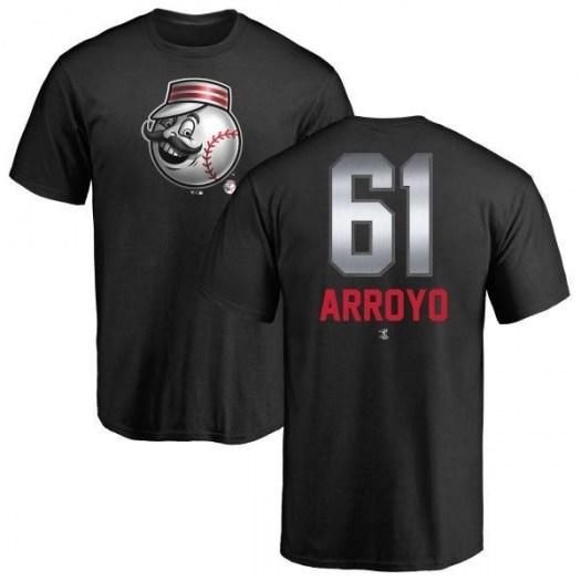 Bronson Arroyo Cincinnati Reds Men's Black Midnight Mascot T-Shirt -