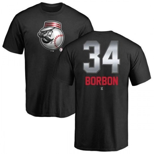 Pedro Borbon Cincinnati Reds Men's Black Midnight Mascot T-Shirt -