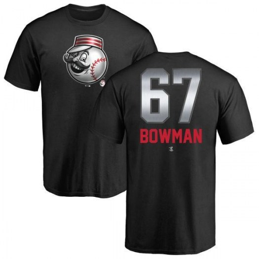 Matt Bowman Cincinnati Reds Men's Black Midnight Mascot T-Shirt -